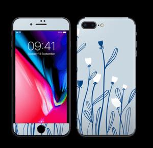 Sinivalko tarrakuori IPhone 8 Plus