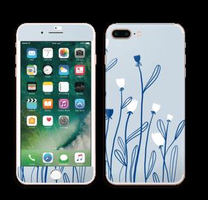 Sinivalko tarrakuori IPhone 7 Plus