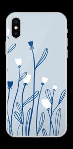 Sinivalko tarrakuori IPhone XS