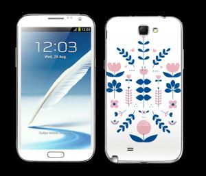 Floraison symétrique Skin Galaxy Note 2