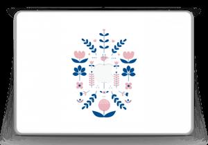 """Floraison symétrique Skin MacBook Pro 13"""" -2015"""