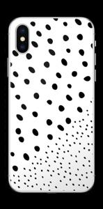 Pienet pilkut tarrakuori IPhone XS