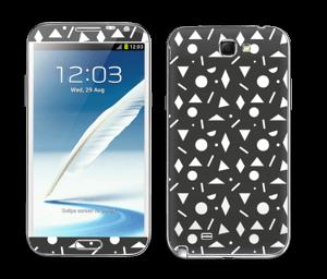 Black & White Art Skin Galaxy Note 2