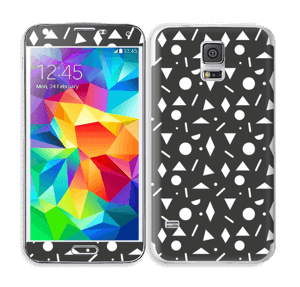 Geometriset kuviot tarrakuori Galaxy S5