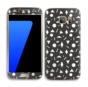 Geometriset kuviot tarrakuori Galaxy S7