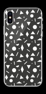 Geometriset kuviot tarrakuori IPhone XS