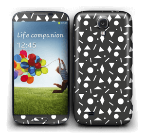 Geometriset kuviot tarrakuori Galaxy S4