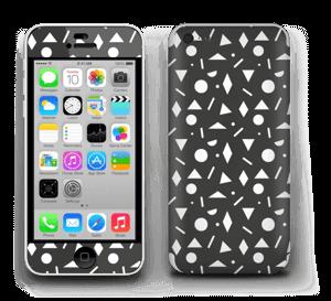 Geometriset kuviot tarrakuori IPhone 5c