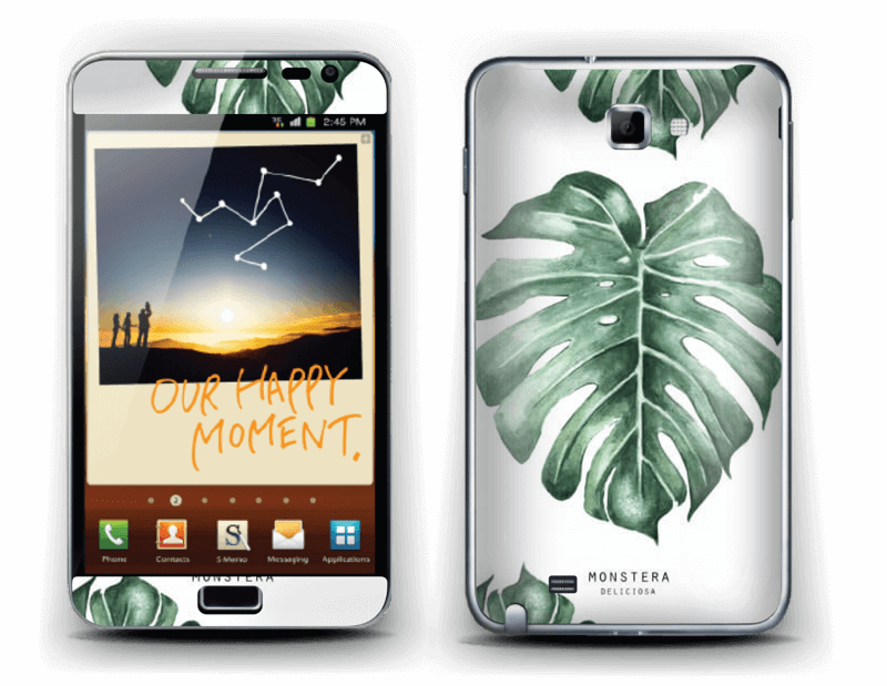 Monstera pattern Skin Galaxy Note
