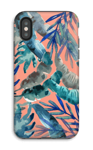 colorful tropics case IPhone X tough