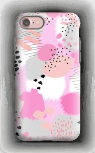 Abstrakt lyserød cover IPhone 7 tough