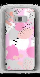 Abstrakt rosa deksel Galaxy S8