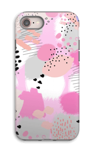 Abstrakt rosa deksel IPhone 8 tough