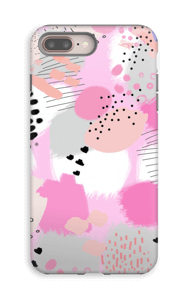 Abstrakt rosa deksel IPhone 8 Plus tough