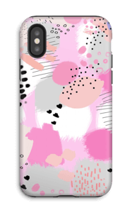 Abstrakt rosa deksel IPhone X tough