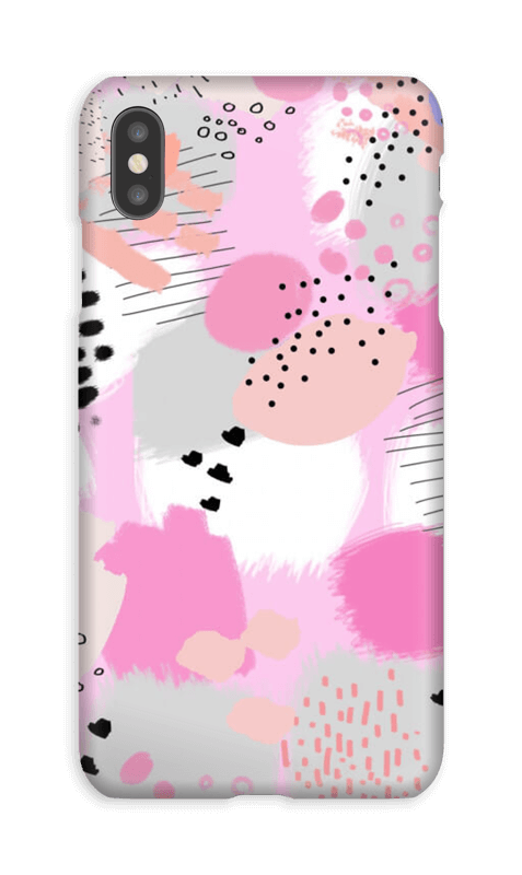 Abstrakt rosa deksel IPhone XS Max