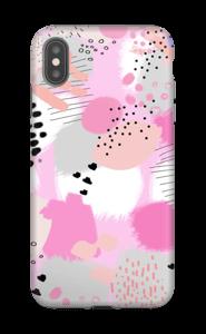 Abstrakt rosa deksel IPhone XS Max tough