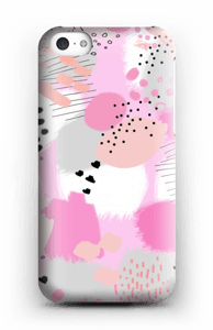 Abstrakt rosa deksel IPhone 5c