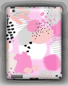 Abstrakt rosa deksel IPad 4/3/2