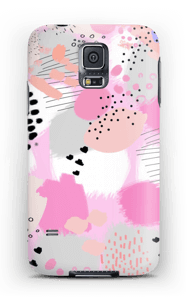 Abstrakt lyserød cover Galaxy S5