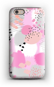 Abstrakt rosa deksel IPhone 6 tough