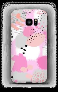 Abstrakt rosa deksel Galaxy S7 Edge