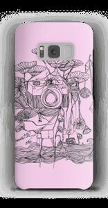 Kameraet og kranene rosa deksel Galaxy S8