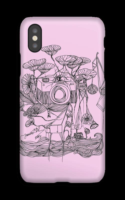 Kameraet og kranene rosa deksel IPhone X