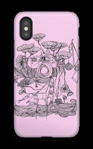 Kameraet og kranene rosa deksel IPhone X tough