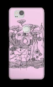 Kameraet og kranene rosa deksel Pixel 2