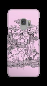 Kameraet og kranene rosa deksel Galaxy S9