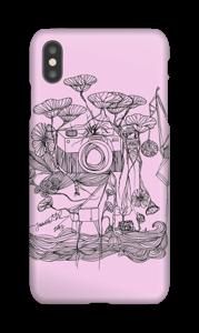 Kameraet og kranene rosa deksel IPhone XS Max