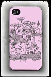 Kameraet og kranene rosa deksel IPhone 4/4s