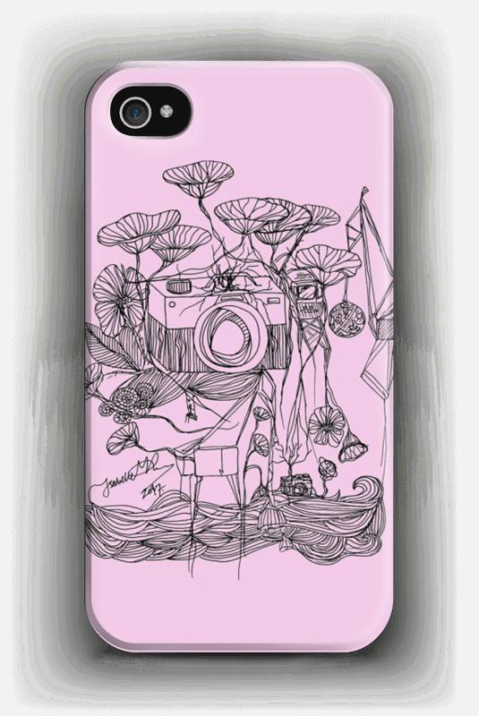 Vaaleanpunainen kamera kuoret IPhone 4/4s