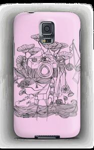 Kameraet og kranene rosa deksel Galaxy S5
