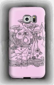 Kameraet og kranene rosa deksel Galaxy S6 Edge