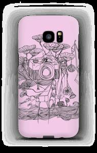 Kameraet og kranene rosa deksel Galaxy S7 Edge