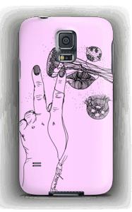 Rosa manet  deksel Galaxy S5