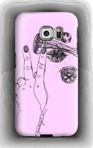 Vaaleanpunainen maneetti kuoret Galaxy S6 Edge