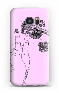 Vaaleanpunainen maneetti kuoret Galaxy S7