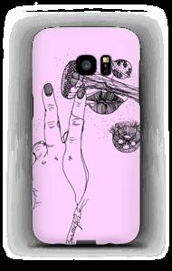 Rosa manet  deksel Galaxy S7 Edge