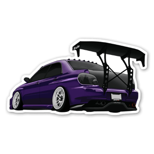 Purple Subaru  sticker