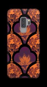 Orange und Lila Handyhülle Galaxy S9 Plus