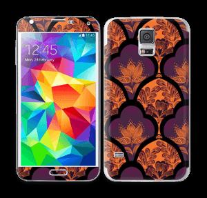 Orange und Lila Skin Galaxy S5