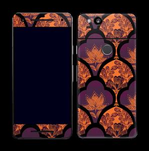Orange und Lila Skin Pixel 2