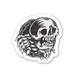 skull chain  sticker