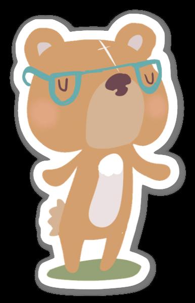 Smart bjørn sticker