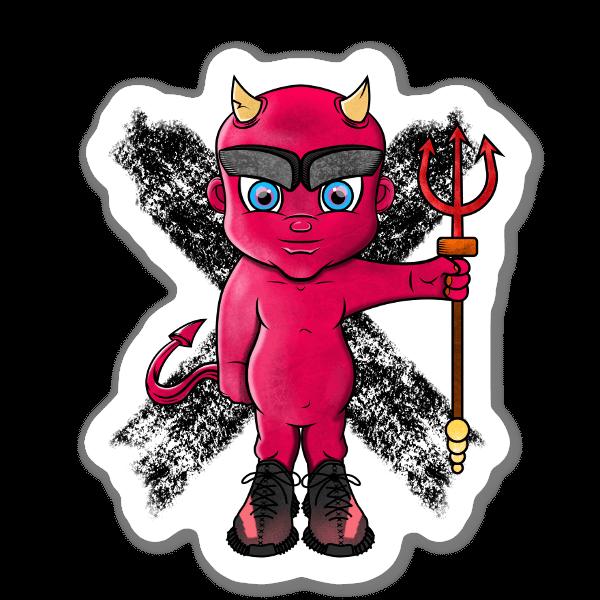 Devil in Yeezys Aufkleber  sticker