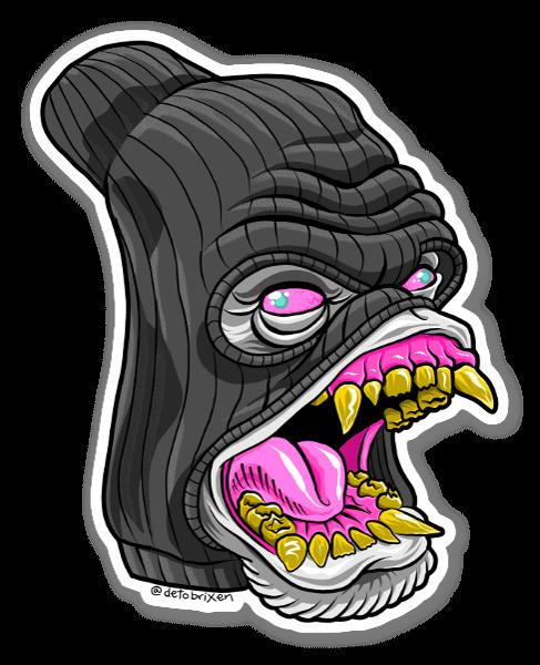 Gorilla Ski Maske sticker