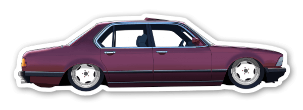 BMW7 pegatina